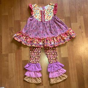 EUC Matilda Jane Outfit Girls 4-6
